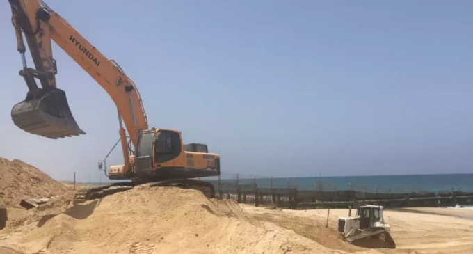 Israel Begins Construction of Maritime Barrier at Gaza Border