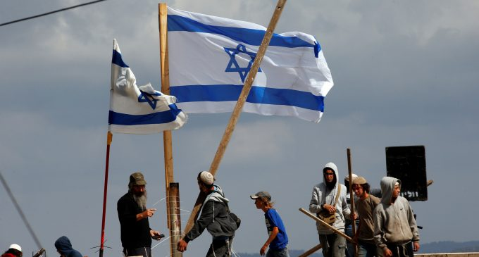 Illegal Israeli settlers evicted from Palestinian land in West Bank