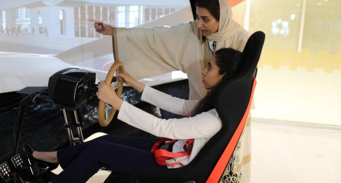 Women in Saudi Arabia exercise their right to drive