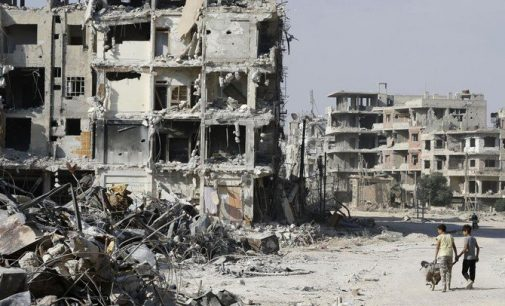 Syria's government start hauling concrete and sweeping floors to repair homes