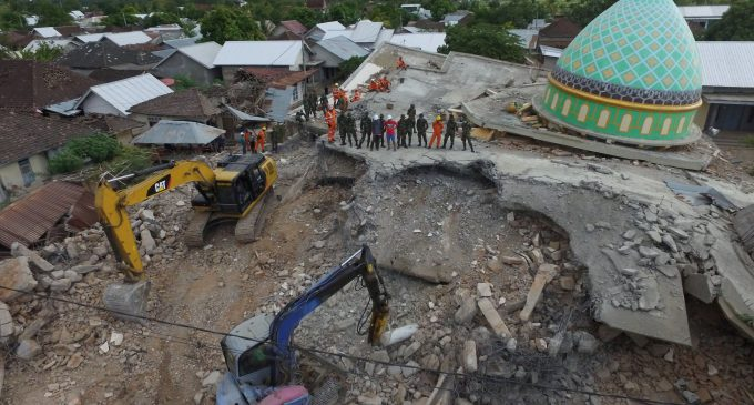 320 were dead as a result of Indonesia quake