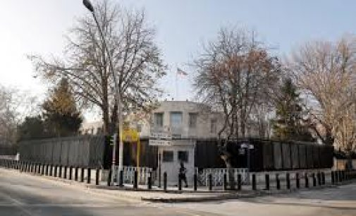 Several gunshots were fired on Monday from a vehicle at the U.S. Embassy in the Turkish capital