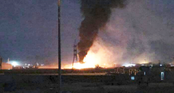 """Syrian air defences had demolished an """"hostile target"""" west of the capital Damascus"""